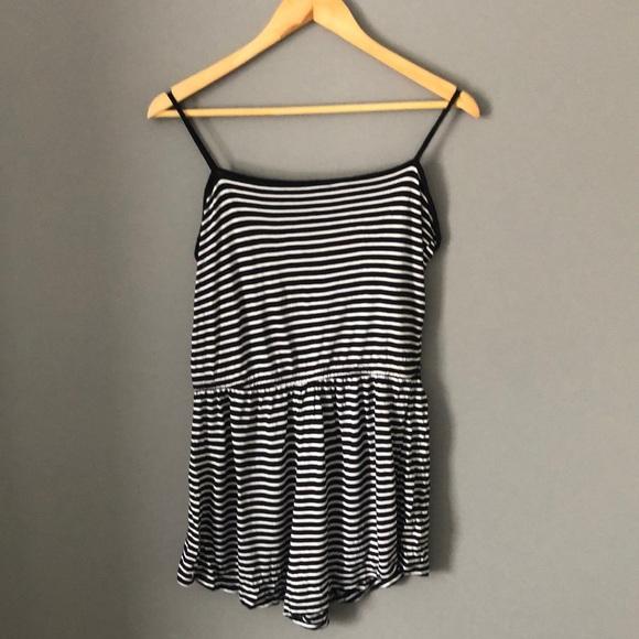 Striped Shorts Romper
